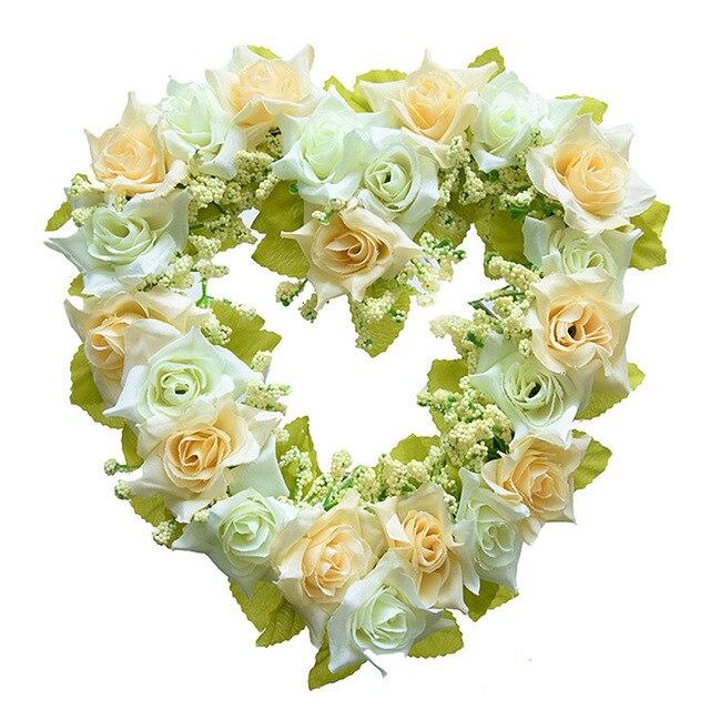 Connu Coeur En Forme de Fleur Artificielle Rose Décoration Accrocher des  XA26