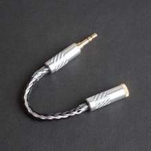 OKCSC высокой чистоты OFC 3,5 мм Мужской до 2,5 мм Женский баланс выходной адаптер аудио стерео кабель 8 поделиться для наушников и сотового телефона