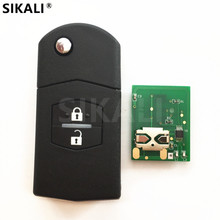 2 Buttons Remote Car Key for SKE126-01 SKE126-A1 Vehicle Control Alarm Frequency 433MHz, 4D63 Chip Optional for Mazda