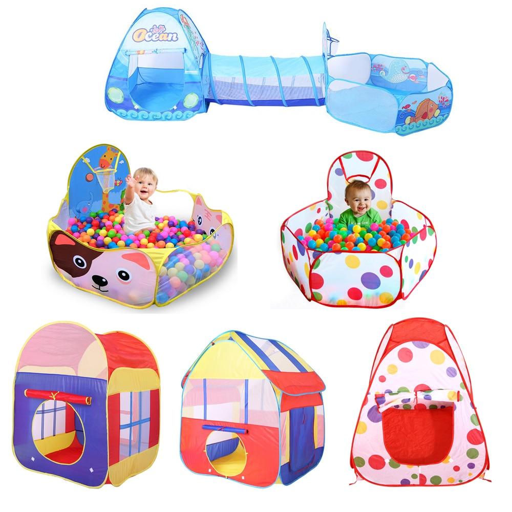 Brinquedos das Crianças Tenda dobrável Para Bolas de Jogo Do Bebê Oceano Piscina de Bolinhas Com Cesta Jogo Barraca Ao Ar Livre para Crianças dos miúdos pit bola
