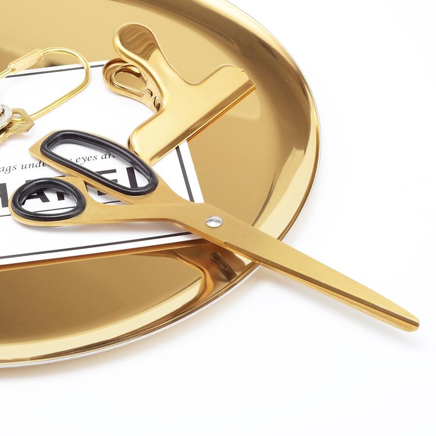 Dokibook Golden Brass School Scissors Asymmetric Scissors Minimalist Design Office Household Scissors Kawaii Korean Stationery