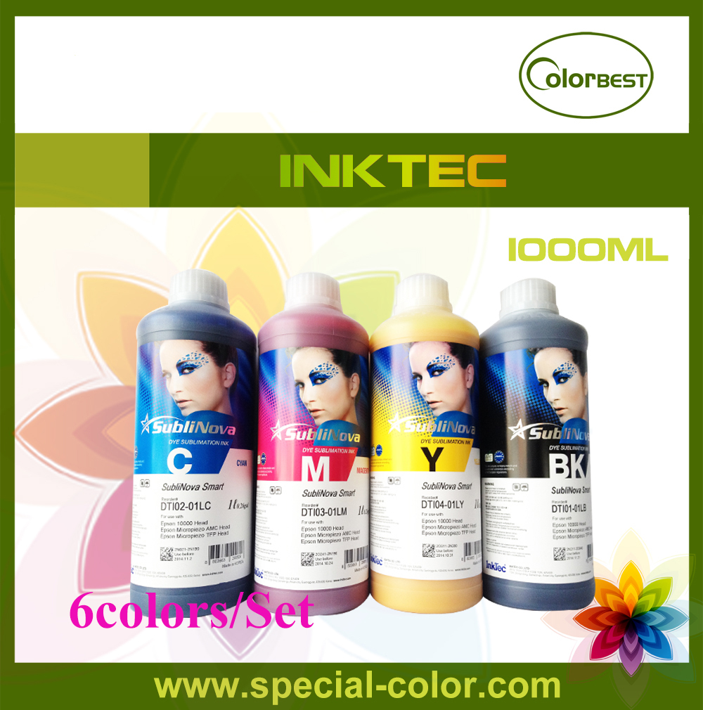 все цены на  6Colors Inktec SubliNova Smart Ink 1000ml Dye Sublimation Ink for Epson  онлайн
