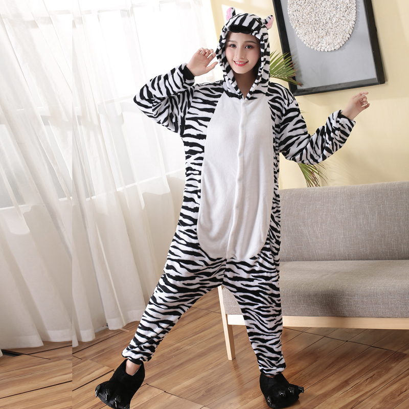 zebra adult kigurumi for women