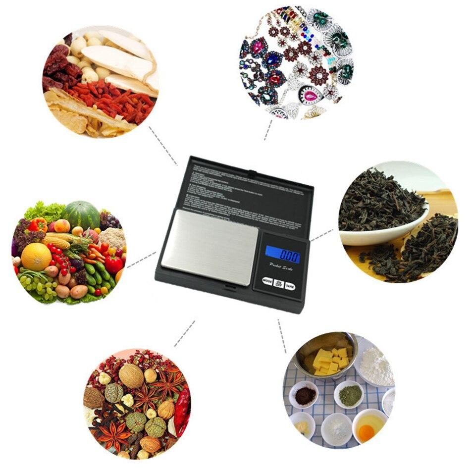 Высокоточные цифровые кухонные весы 200 г, 500 г x 0,01 г, ювелирные весы для золота, электронные карманные весы с ЖК-дисплеем-4