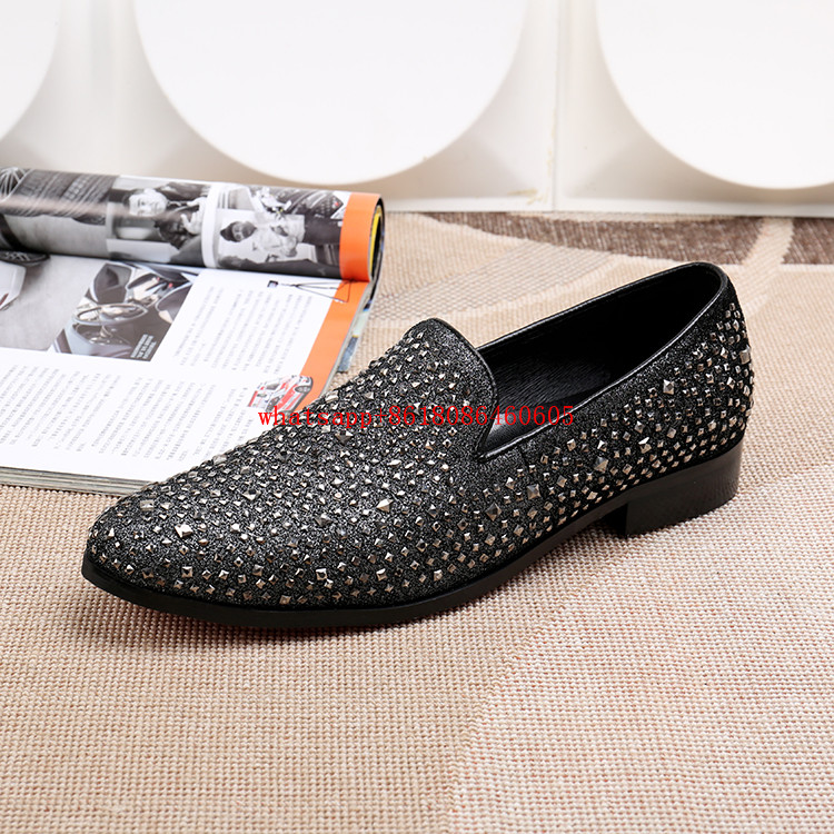 Classic men leather dress shoes studded loafers hidden heel shoes for men spiked slip on italian mens shoes flats size13 classic style classic mens dress shoes deep coffee color genuine leather oxford shoes for men lace up pointy loafers high heels