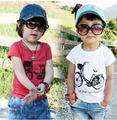 Cotton Size90~130 children t-shirts for kids tops tees child clothing boys short sleeve summer t shirts  bicycle