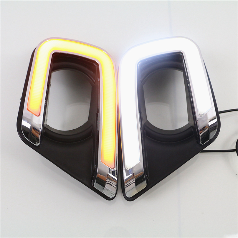 2 pcs car styling For Fiat Freemont 2014 2015 2016 LED DRL Daytime driving Running Light