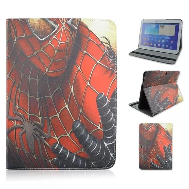 Окрашенные Spiderman Для Samsung Galaxy Tab 4 10.1 T530 T531 T535 Стенд Tablet Крышка Случая ж/Экран Защитную Пленку + Стилус