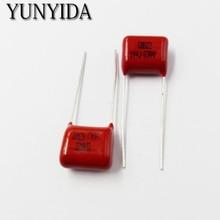 Бесплатная доставка 10 шт., CBB 104J 630 В 100NF 0.1 мкФ P10mm металлизированный Плёнки конденсатор 630V104J 104 630 В
