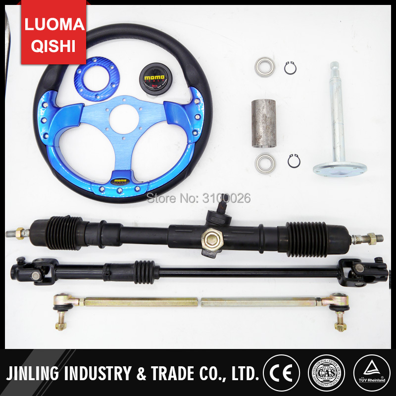 320mm Steering wheel 630mm Rack & Pinion 610mm adjust U Joint Tie Rod Fit For China Go Golf l Kart Buggy Karting UTV Bike Parts 320mm steering wheel 630mm rack