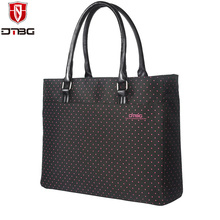 DTBG Women 15.6 inch Laptop Handbag Totes Lovely Dots Girl Briefcase for ASUS MacBook Super Light Computer Bag Nylon Laptop Bags(China)