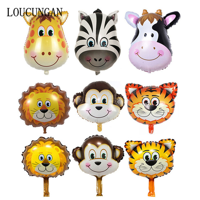 Juego de globos de papel de animales 6 piezas con tema de fiesta de Safari
