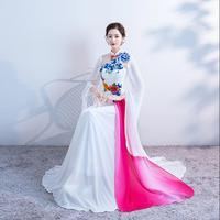 9cb70df8f7eb01 Traditional Chinese Oriental Dresses Qipao Improved Blue And White  Porcelain White Cheongsam Dress. US  80.00. Traditionele Chinese Oosterse  Jurken ...