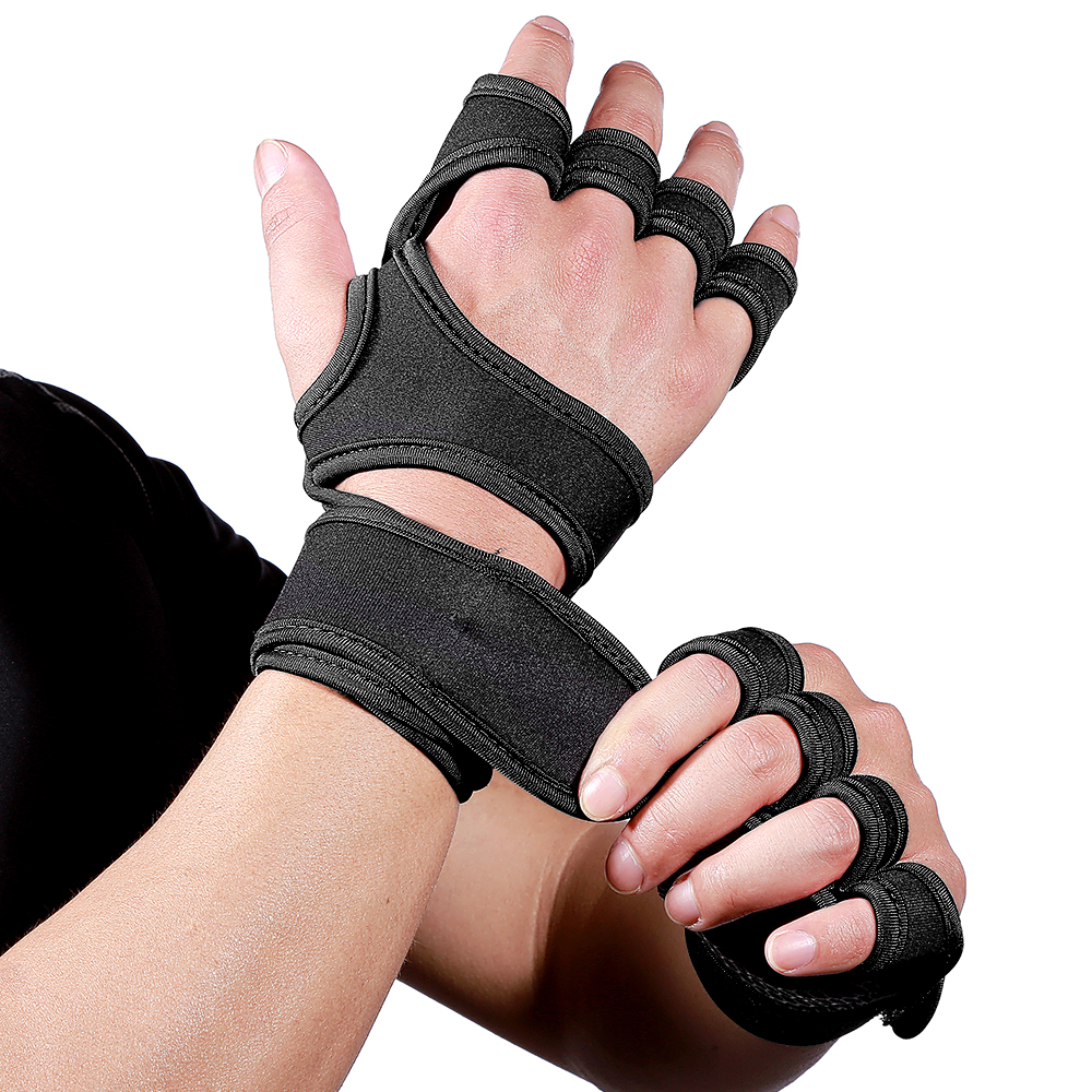 Gym Gloves Weight Lifting Training Gloves Women Men Fitness Sports Body Building Gymnastics Grips Gym Hand Palm Protector