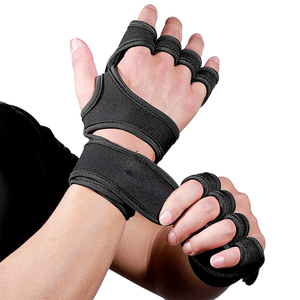 Gym Gloves Weight Lifting Training Gloves Women Men Fitness Sports Body Building Gymnastics Grips Gym Hand Palm Protector(China)