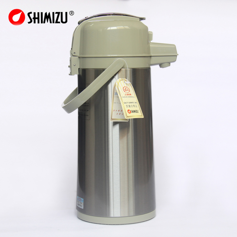 1 6 L 64oz Pressure Vacuum Flask Thermos Bottle Pot Kettle Food Hot Water Tea Coffee Stainless Steel Shell Glass Inner Tank In Flasks Thermoses