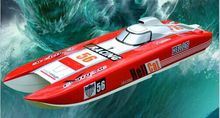 Fast Speed Up to 100km/h DT E51 Catamaran Fiberglass Electric Brushless RC Boat w/ Dual 4082 Motor & Dual 120A ESC Servo