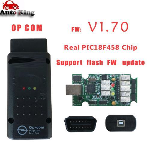 Лучший с чипом PIC18F458! Диагностический Интерфейс opcom сканер can obd2 для opel V1.70 op com plus can bus интерфейс - Цвет: opcom