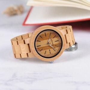 Image 4 - BOBO kuş WP23 basit kuvars saatler tüm orijinal bambu kol saati tarih ekran ile erkekler kadınlar için