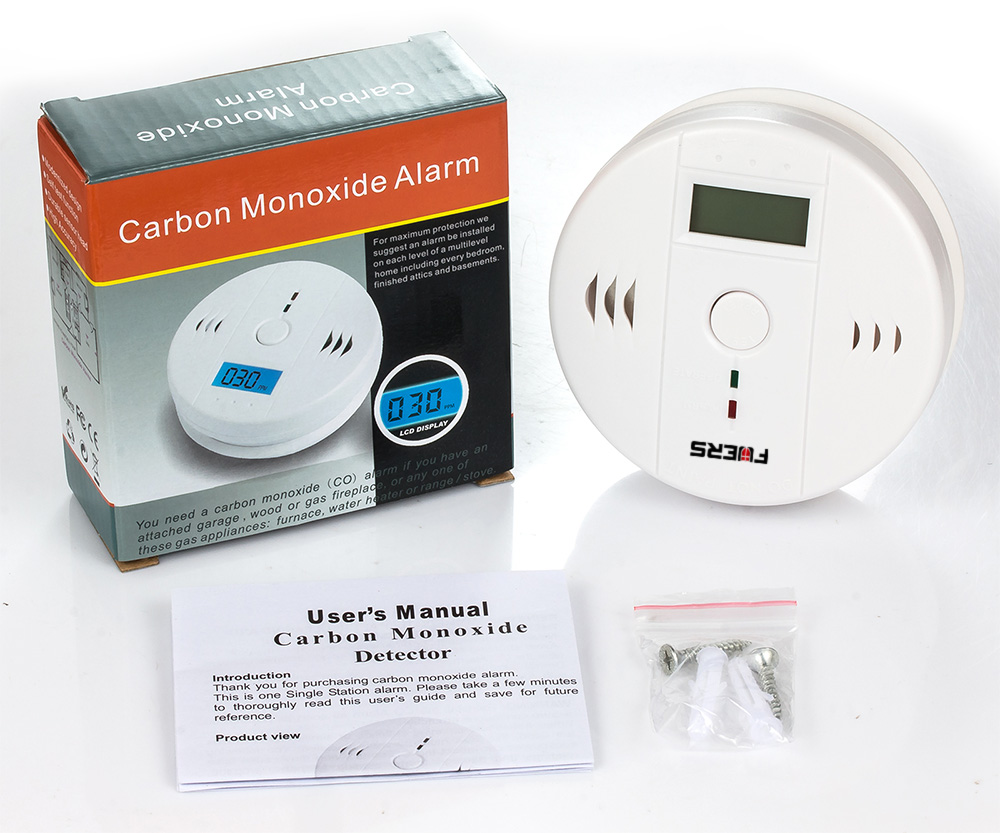 Fuers 3pcs Gas Detector Sensor Carbon Monoxide Work Alone 85db Siren Sound Independent Carbon Monoxide Detectors CO Sensor in Carbon Monoxide Detectors from Security Protection