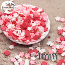 30g 4mm polymer clay mix color flower slice flat nail Art Supply Decoration Charm Craft
