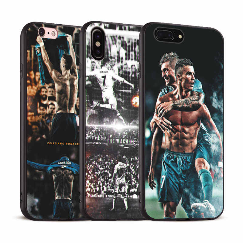 Cristiano Ronaldo Coque Phone Case Soft Silicone Cover Shell For Apple iPhone 5 5s Se 6 6s 7 8 Plus X XR XS MAX