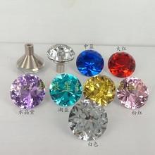 30mm Diamond Crystal Cabinet Dresser Drawer Wardrobe 7 colors Door Knobs Handles Sparkly New