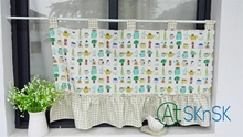 Customized Japan style fashion Pastoral fresh cartoon coffee curtains kitchen decoration multi design short curtain for