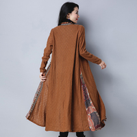 2018 Spring Autumn X Long Trench Coats Women Ethnic Style Long Sleeved Cloak Shawl Cardigan Windbreaker