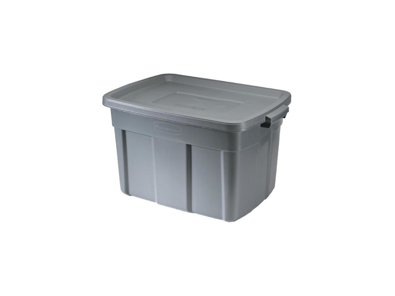 Rubbermaid 25 Gallon Roughneck Storage Tote FG2245CPDIM - Pack of 9 nib 8 pack scepter corporation 07450 1 25 gallon epa carb gas can auth dealer
