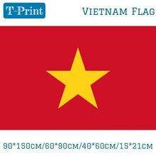 90*150 см/60*90 см/40*60 см/15*21 см вьетнамский флаг, вьетнамский полиэстер, 3x5 футов, флаг для национального дня Олимпийских игр, мероприятий, офиса, дома
