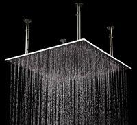 Бесплатная доставка Товары для ванной 20 дюймов 304 Нержавеющаясталь Никель щеткой, 50*50 см потолочный монтаж большой Насадки для душа