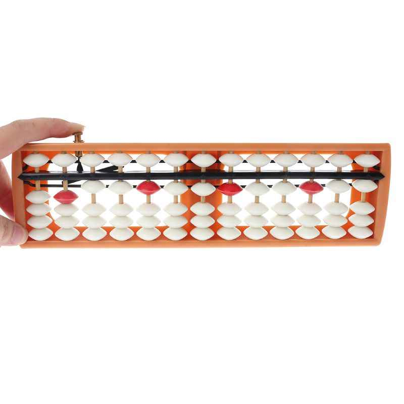 13 Column Abacus Arithmetic Portable Number Counting Math Soroban Learning Tool