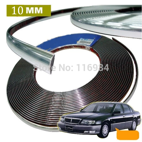 10mm x 3meters CHROME STYLING MOULDING TRIM STRIP SELF ADHESIVE FOR CAR Rearview Mirror car pendant handicraft dreamcatcher feather hanging car rearview mirror ornament auto decoration trim accessories for gifts 30cm