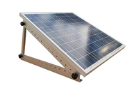 1 set Triangle Aluminum Oblique beam and Triangel Back Beam 550mm 100W 300W Solar Panel Roof Mounting Bracket For Van