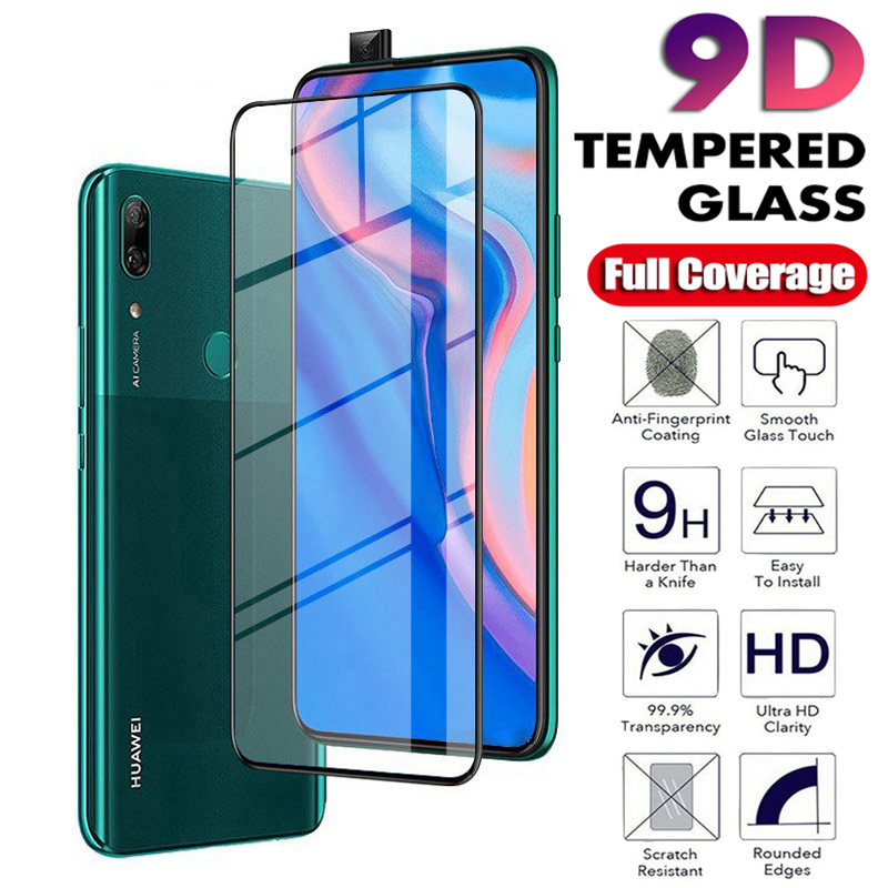 9D Protective Glass For Huawei P Smart 2019 Plus Z Glass Screen Protector Full Cover Film No The For Huawe Huaweii Psmart Plus Z