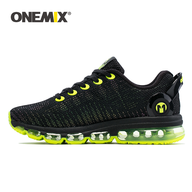 Onemix men running shoes discolour mesh colorful reflective vamp breathable sneakers for outdoor sports jogging walking