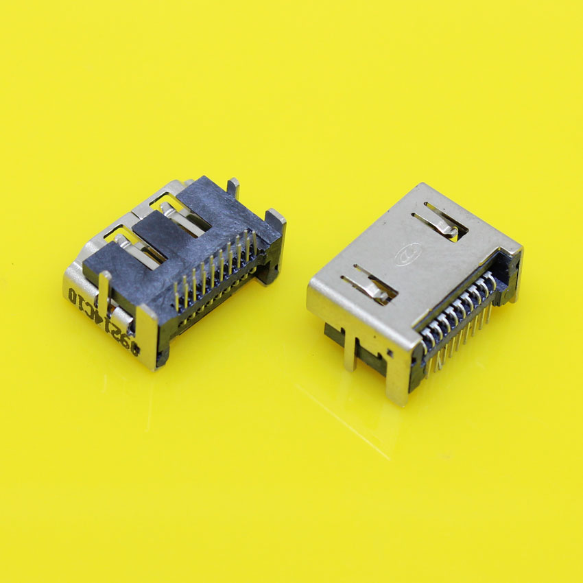 HD-043 HDMI Jack 19pin HDMI Female Socket For acer sumsung hp lenovo etc two rows of pin 90 degree