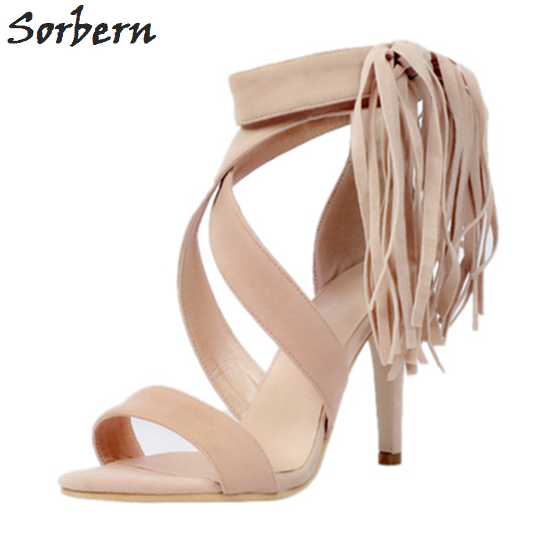 Sorbern Women Sandals Shoes Womens Sandals Summer 2017 Plus Size Fringe Ladies Party Shoes Women Designers Sandals New Arrive new 2017 spring summer women shoes pointed toe high quality brand fashion womens flats ladies plus size 41 sweet flock t179
