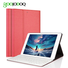 For iPad Air 2 1 font b Keyboard b font Case Carbon Fiber PU Leather Smart