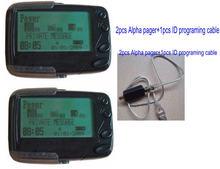 Система пейджинга pocsag 2 шт альфа пейджер 1 программатор id