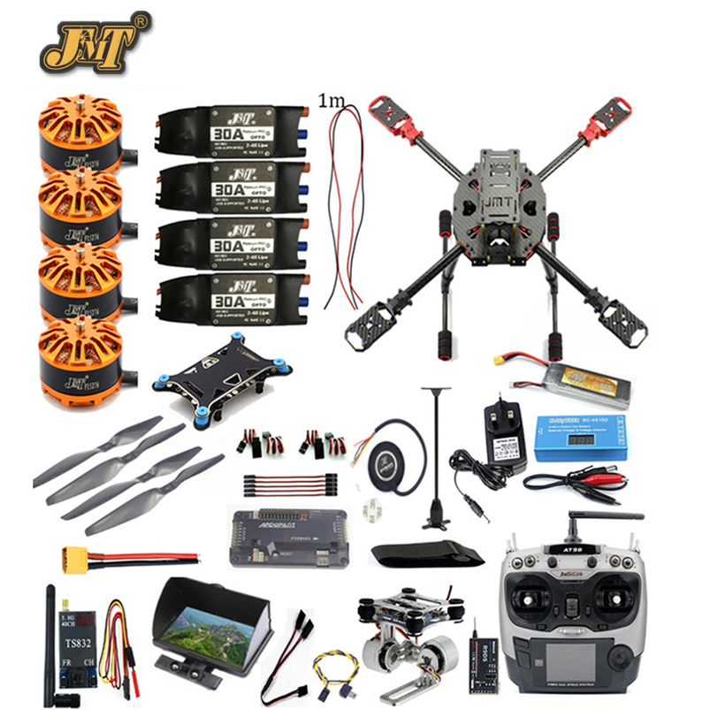 JMT FPV 2.4GHz 4-Aixs Full Set RC Airplane APM2.8 Flight Controller M7N GPS J630 Carbon Fiber Frame Props AT9S TX Hexacopter jmt j510 510mm carbon fiber 4 axis foldable rack frame kit with high tripod for diy helicopter rc airplane aircraft spare parts