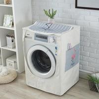 Drum Washing Machine Cover Waterproof Sunscreen Linen Washing Machine Dust Cover Automatic Flip Washing Machine Cover ZM145