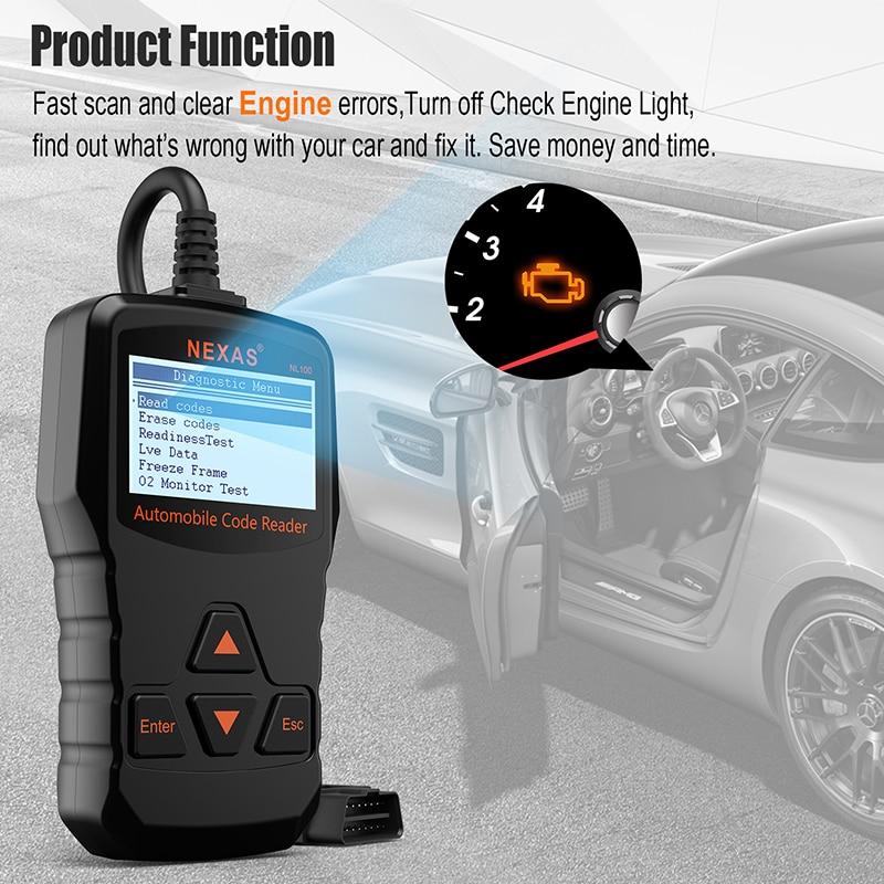NEXAS NL100 Diagnostic Tool ODB2 OBD2 Auto Car Diagnostic Scanner ...