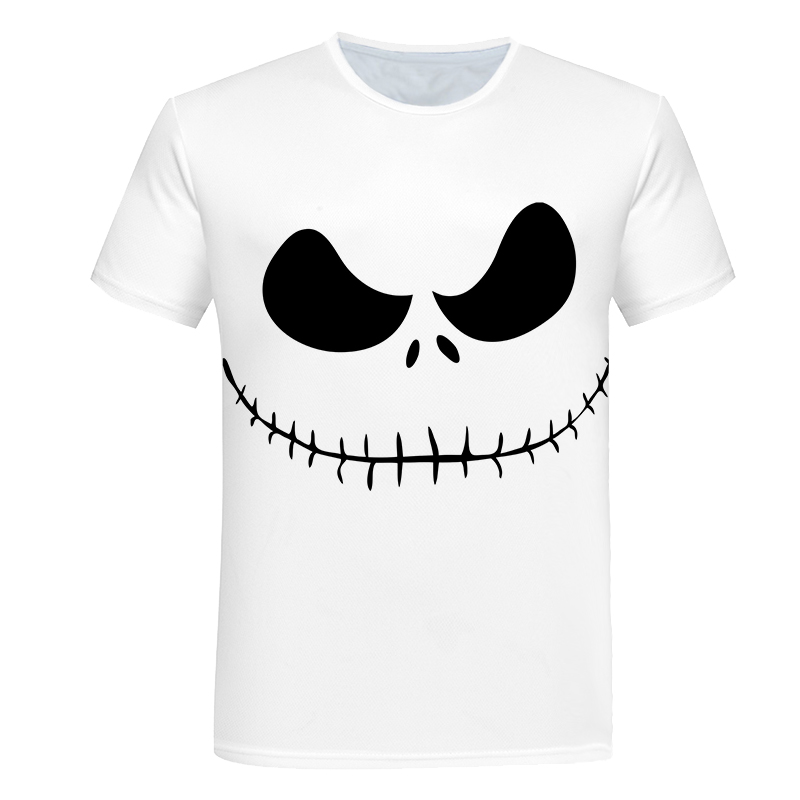 2018 New Mens Summer Halloween Print Men Short Sleeve T-shirt 3D T Shirt Casual Breathable T-shirt Plus-size T-shirt Casual Tops