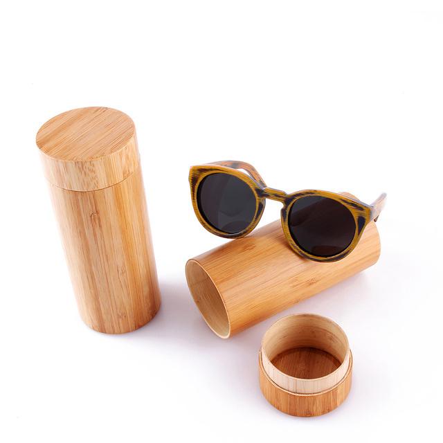 Moldura redonda Óculos De Sol 2016 Das Mulheres Dos Homens Óculos de Sol Da Moda Óculos De Sol De Madeira de Bambu