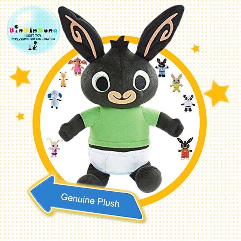 Véritable Bing lapin en peluche jouet sula flop Hoppity de Voosh pando bing coco poupée peluche poupées jouets enfants cadeaux d'anniversaire De Noël