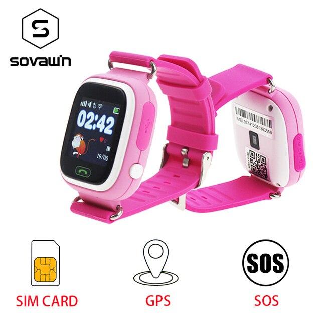 Детские GPS Смарт-часы для детей безопасной Q90 SIM WiFi сенсорный экран SOS вызова расположение трекер Вибрация Anti- Потерянный Remote Monitor