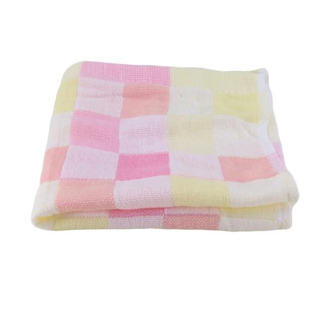 Hot Sale 26x26cm Square Towels Cotton gauze Plaid Towel Kids Bibs Daily Use Hand Face Towels for Kids