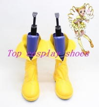 Yes! PrettyCure 5 Yes precure 5 pretty cure Kasugano Urara Cure lemonade Cosplay Boots shoes shoe boot yellow(China)